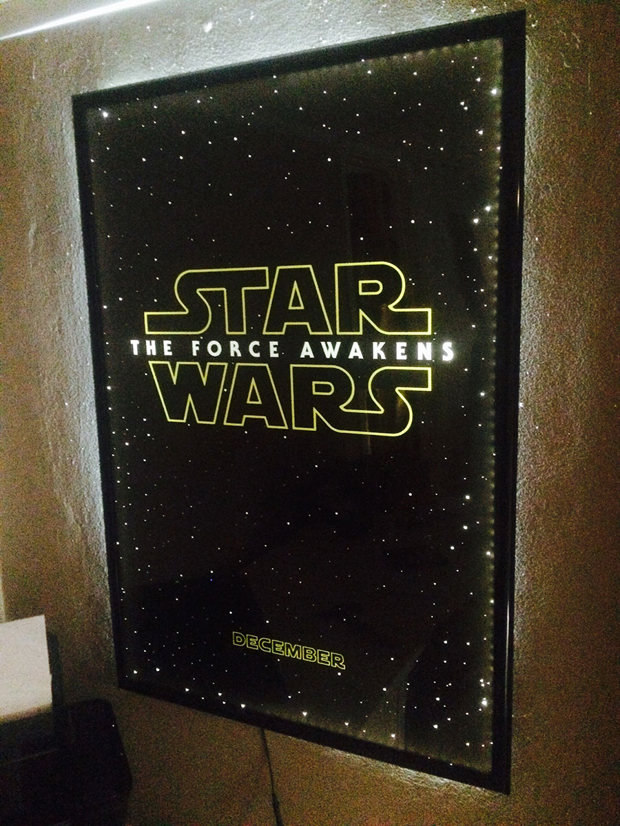 diy led frame project for the force awakens� poster
