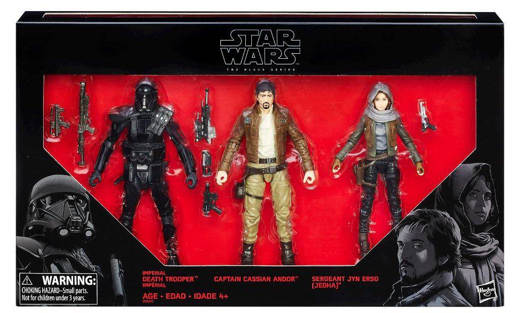 """Star Wars Rogue One Action Figure Set 3 Pack 3.75/"""" K-2S0 United Cassien Walmart nouveau"""
