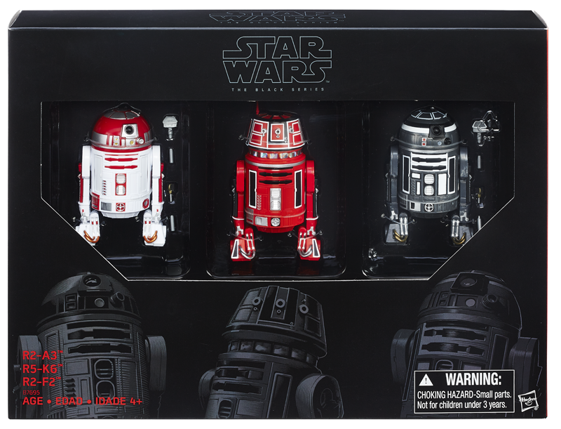 update sdcc exclusive 6 black series astromech 3 pk. Black Bedroom Furniture Sets. Home Design Ideas