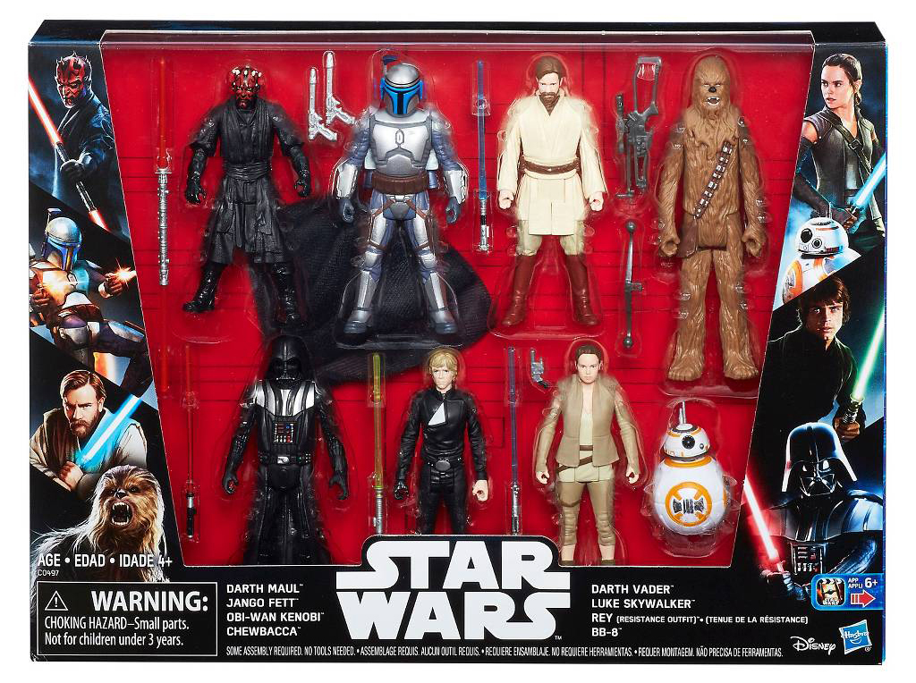 19b44559e03e Target Exclusive Star Wars Saga 7 Pack | Yakface.com