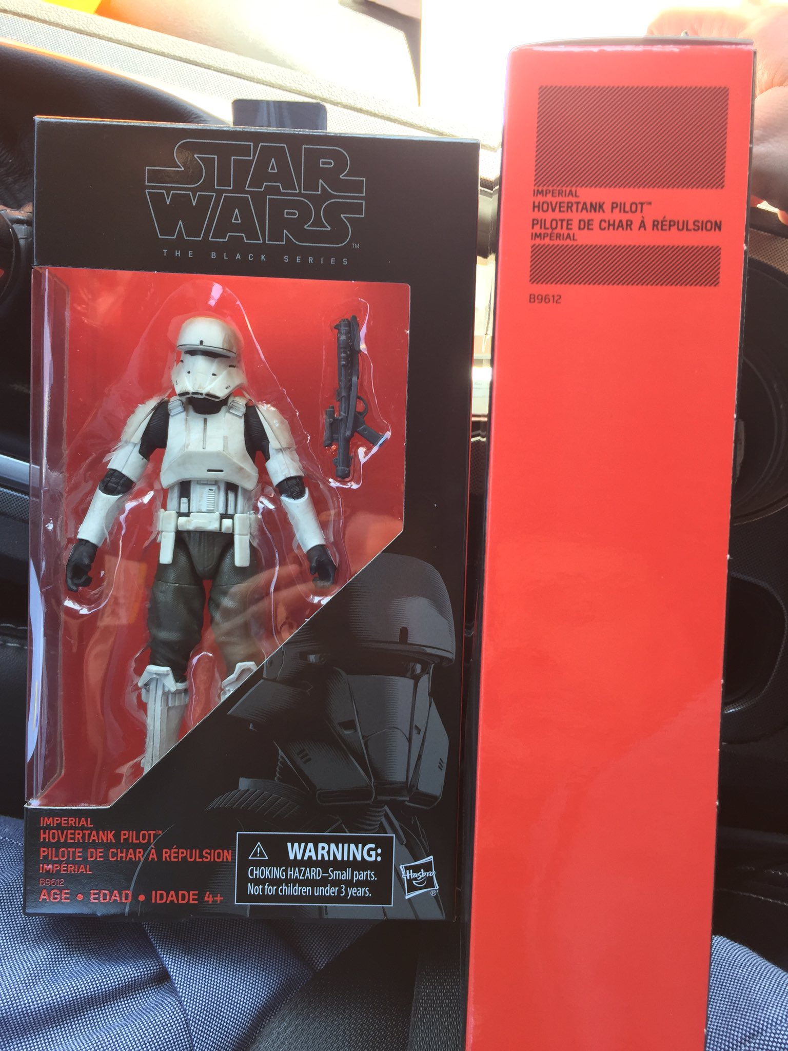 STAR WARS BLACK SERIES IMPERIAL HOVERTANK PILOT 6 IN TOYS R US EXCLUSIVE LOOSE