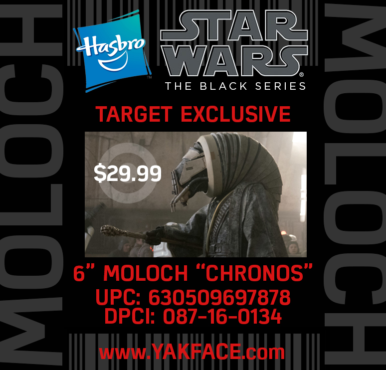 "Star Wars Black Series 6/"" Moloch TARGET EXCLUSIVE"