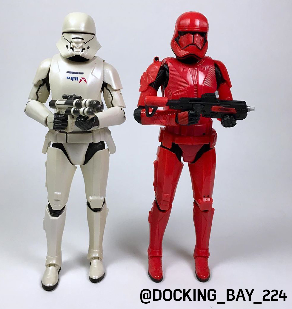"""STAR WARS First Order Jet Trooper Carbonized 6/"""" Exclusive Action Figure Hasbro"""