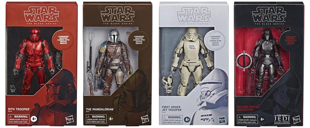 Star Wars Black Series Carbonized Mandalorian Second Sister Jet Sith Trooper Set