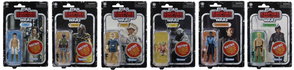 Star Wars Retro Collection Wave 2 Set Luke Han Leia Lando Yoda Boba Fett Kenner